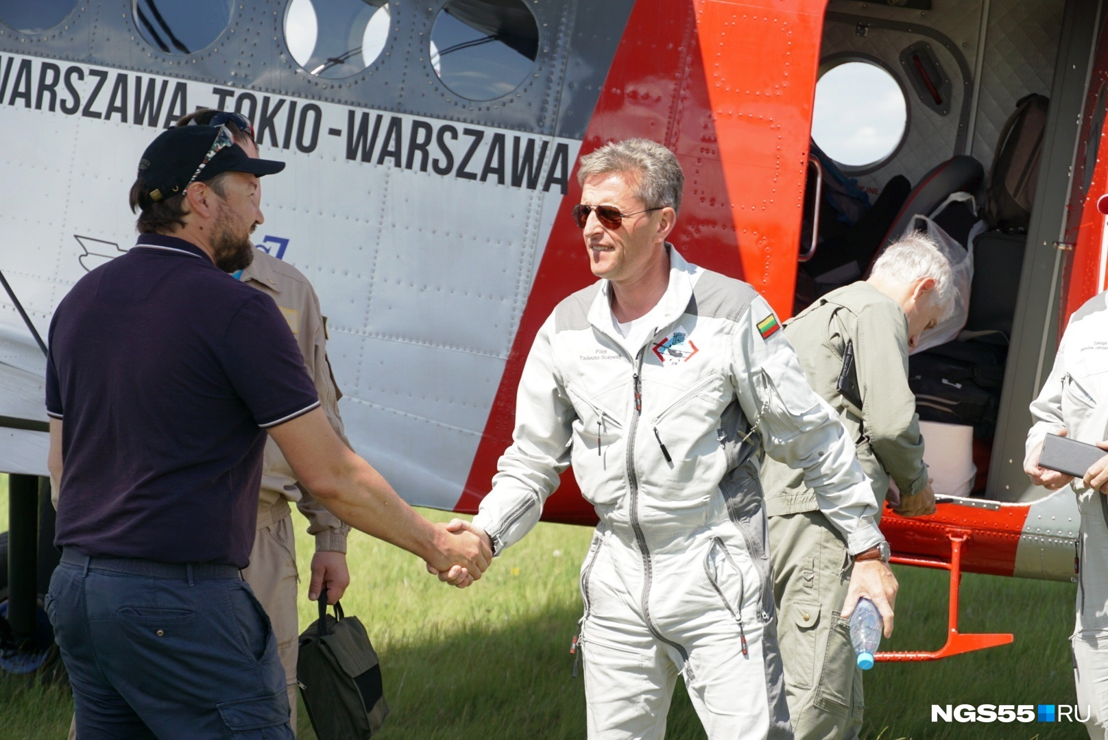 Польские пилоты на омской земле