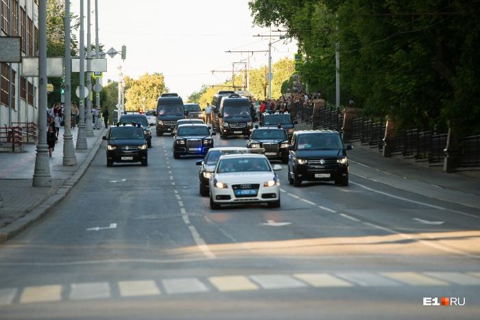 Президент пробыл в Екатеринбурге несколько часов, съездил от конгресс-центра до УрФУ и в аэропорт