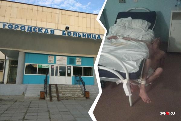 Пациентов больницы возмутило, что одного из больных привязали к кровати