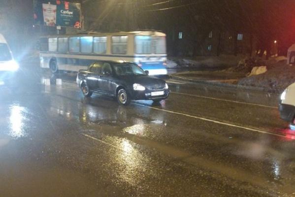 Очевидцы говорят, что «Приора» в момент ДТП ехала со скоростью 50 километров в час