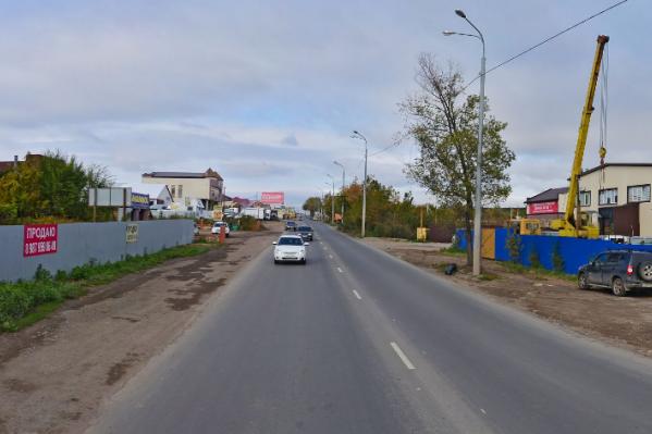 Алма-Атинская от Стара-Загоры до Московского шоссе застроена зданиями от одного до четырех этажей
