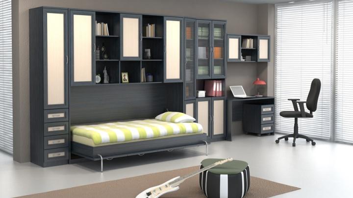 Модульные системы мебели для дома: как освободить пространство спальни