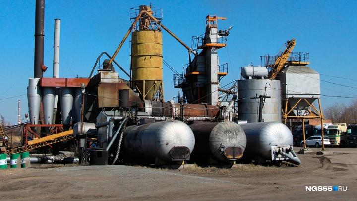 В Омске запустили асфальтовый завод и начали ремонтировать дороги