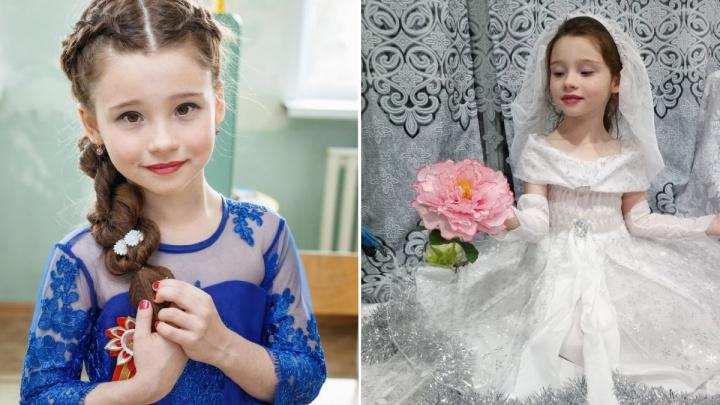 Первоклассница из Железногорска претендует на звание самой красивой девочки России