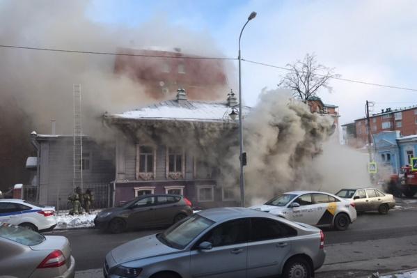 Пожар случился сегодня утром