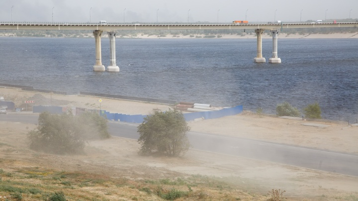 Волгоградскую область после 40-градусного пекла продует сногсшибательными порывами ветра