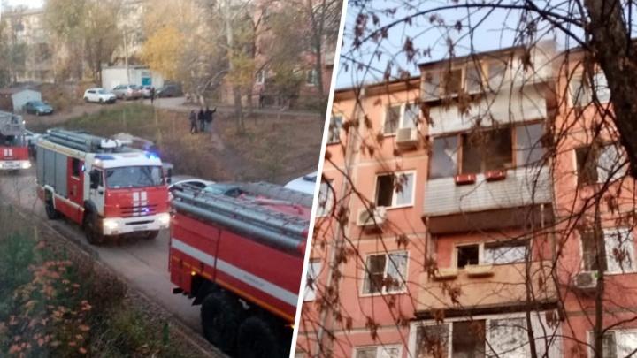 Спасли детей, но есть жертва: на Партизанской горела хрущевка