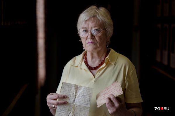 Елена Бурова получила письмо отца, написанное в 1943 году