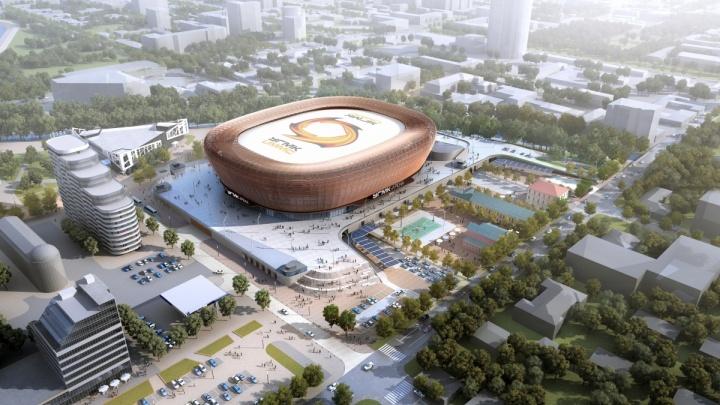 На месте снесенной телебашни в Екатеринбурге начали строить ледовую арену