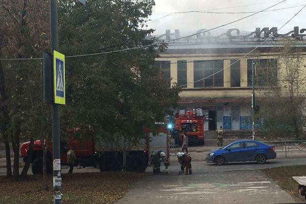 В заброшенном здании уже был пожар