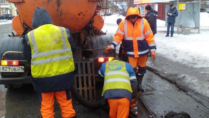 Архангелогородцев просят сообщать о подтоплениях на дорогах в соцсетях