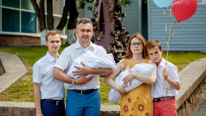 Обогнал на три года: новосибирец оспорил рекорд семьи с наибольшей разницей в возрасте между детьми