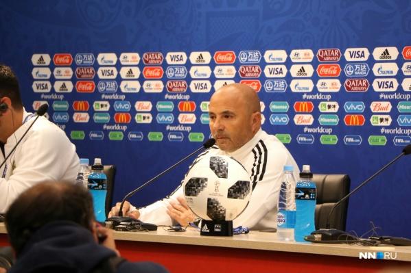 Главный тренер АргентиныХорхе Сампаоли взял ответственность за поражение на себя