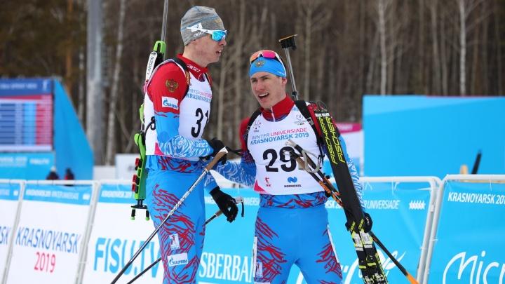 Башкирский биатлонист завоевал весь комплект медалей на Универсиаде