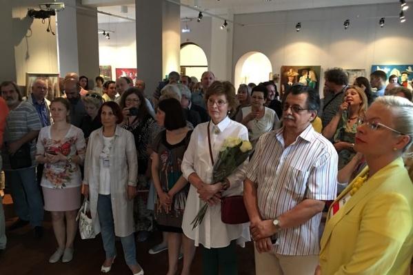 В экспозицию включены новые работы новосибирских художников и скульпторов