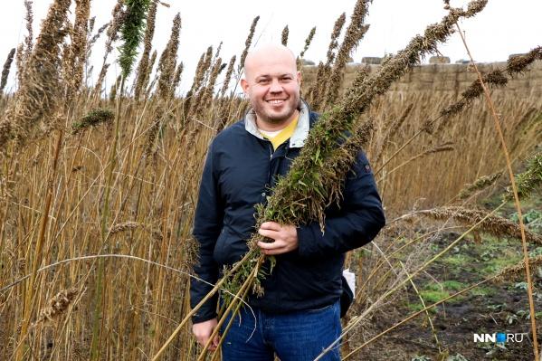 Максим Уваров— предприниматель, который за год высадил 1/100 часть всей мировой технической конопли