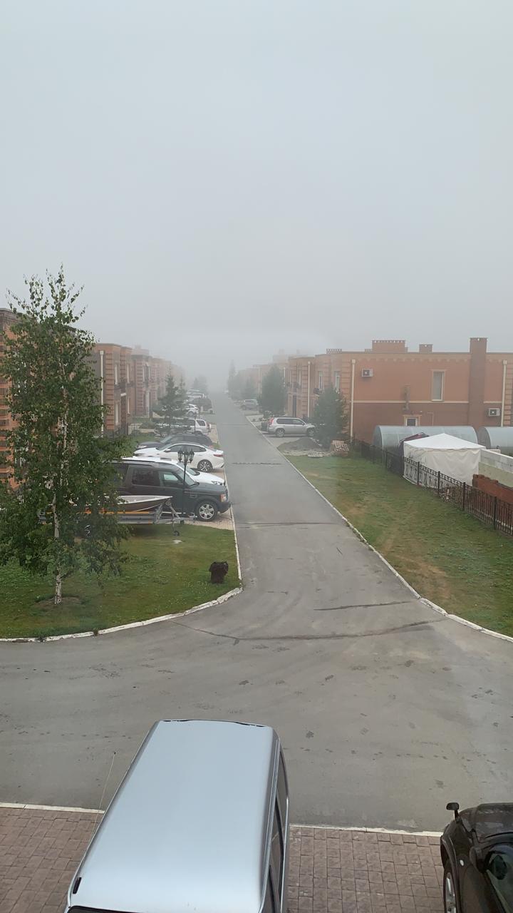 Вот так сегодня утром выглядел посёлок Озёрный. Очень похож на Сайлент Хилл