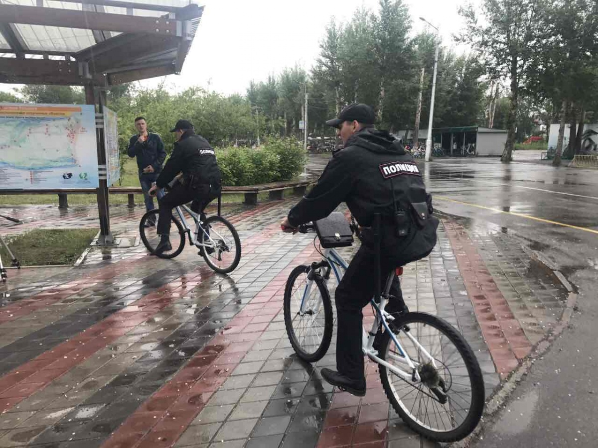 Красноярские полицейские сформировали патрули навелосипедах