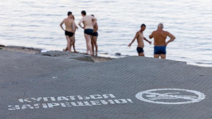 «На Волгу вместо обеда»: волгоградцы и приезжие гости спасаются от жары на правом берегу