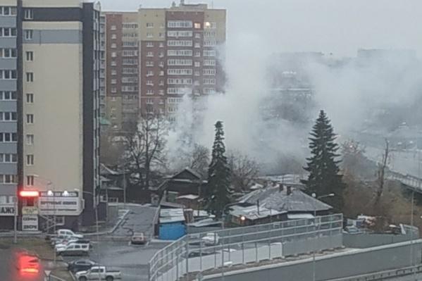 Этот пожар произошел сегодня в пятом часу вечера