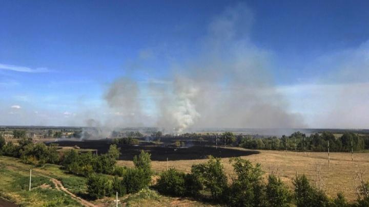 В районе Южного города горело 800 квадратных метров сухой травы