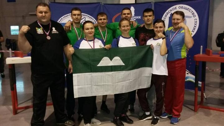 Сборная команда Курганской области завоевала в армрестлинге бронзу Кубка России по спорту глухих