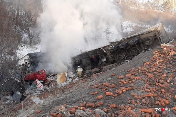 Авария произошла в районе моста у Юрюзани