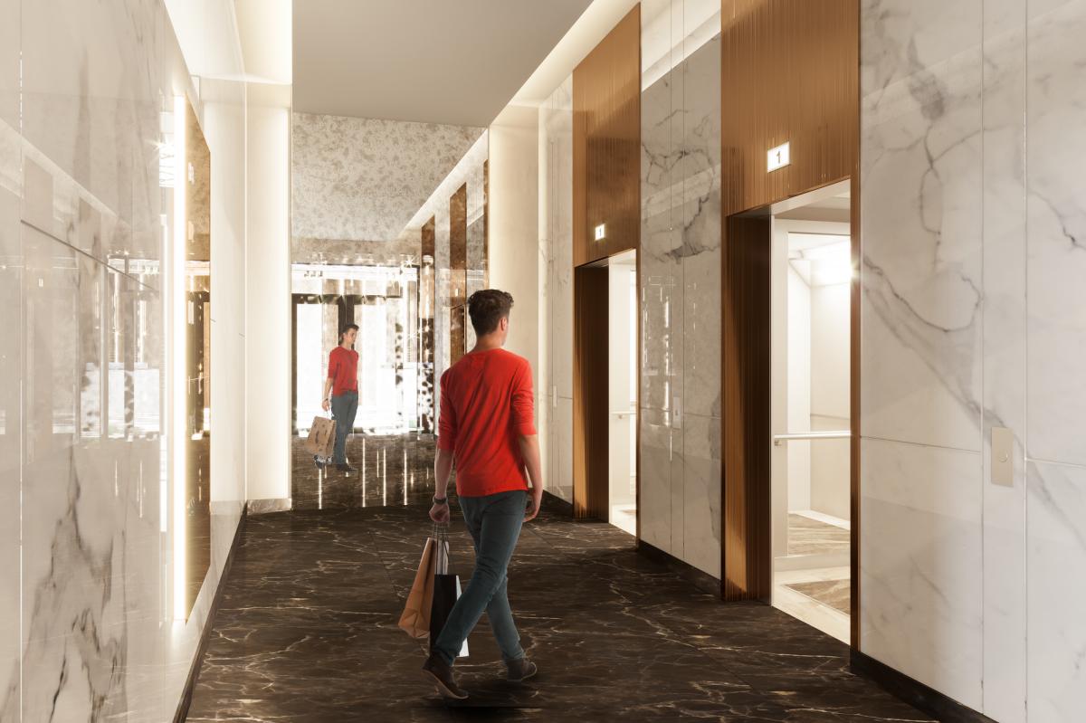 Лифты будут двигаться со скоростью 1,6 метра в секунду