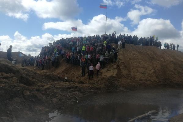 Активисты готовятся записать на Шиесе свое обращение Путину