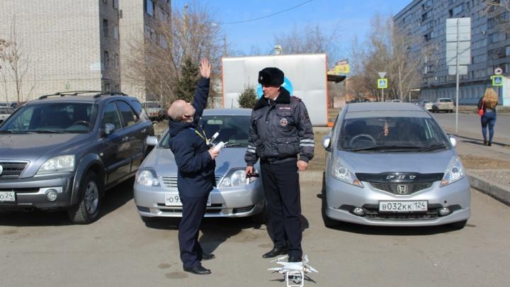 Инспекторы ГИБДД запустили квадрокоптер на Красрабе и за полчаса засекли двоих нарушителей