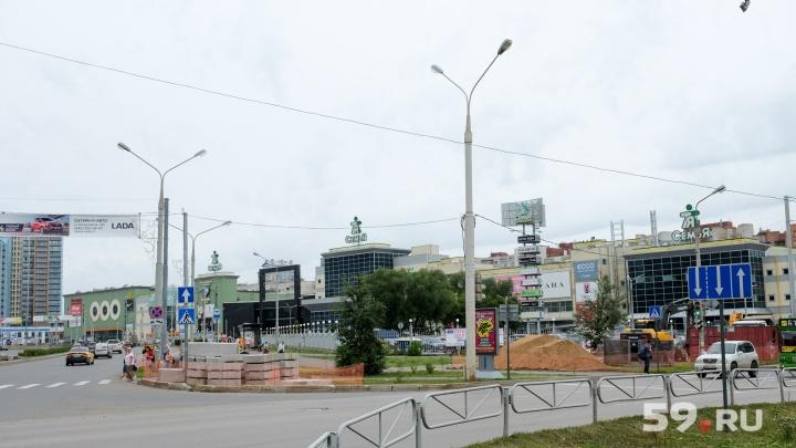 В Перми раньше срока открыли движение на перекрестке Островского и Революции