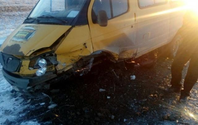 В Башкирии Audi врезалась в пассажирскую «газель»
