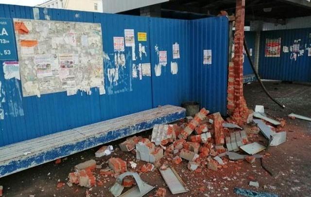 В Омске обрушилась остановка «ОНПЗ»