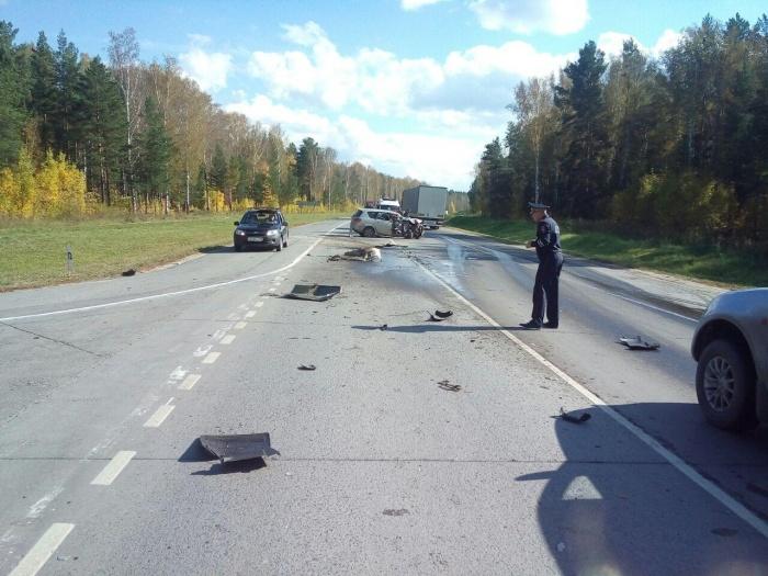 Авария произошла недалеко от поворота к гостинице «Млечный путь»