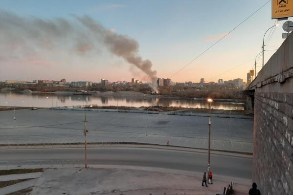 Столб дыма был виден сразу в нескольких районах города