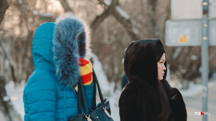 Иней на ресницах, замёрзшие руки, румяные щёки: смотрим, как тюменцы встретили 30-градусные морозы