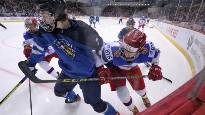 Юниорская сборная России по хоккею уступила финнам