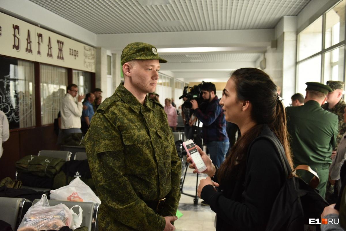 Илья не боится дедовщины в армии