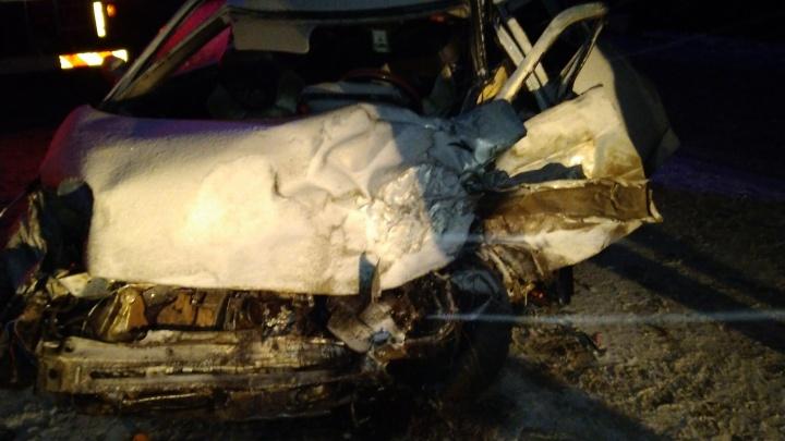 Пытался «поймать» машину, но не смог: регистратор снял смертельную аварию на Режевском тракте