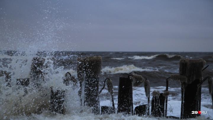 Возможны подтопления: штормовой ветер атаковал Архангельск