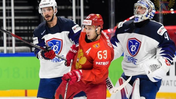 Воспитанники челябинского хоккея принесли первую победу сборной России на чемпионате мира