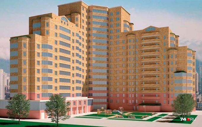 Так по рекламным проектам выглядел жилой комплекс на улице Доватора, состоящий из трёх секций разной этажности