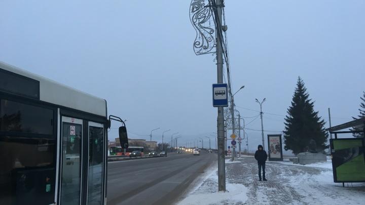 Сильный ветер и -15: в Красноярске резко испортилась погода