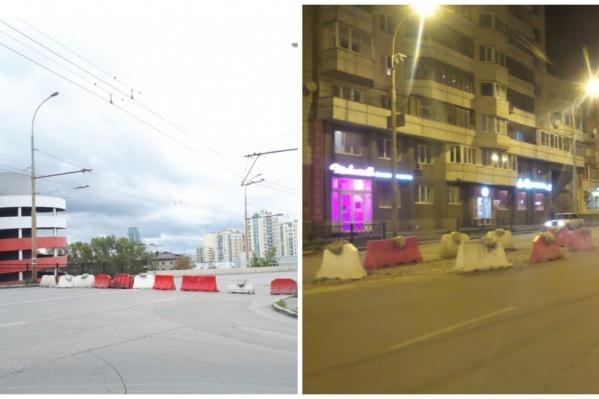 Водители смогли миновать установленные на Шевченко перекрытия