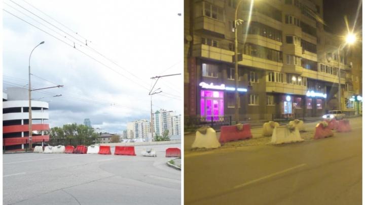 В мэрии Екатеринбурга объяснили, почему на закрывшийся мост в Пионерский заехали машины
