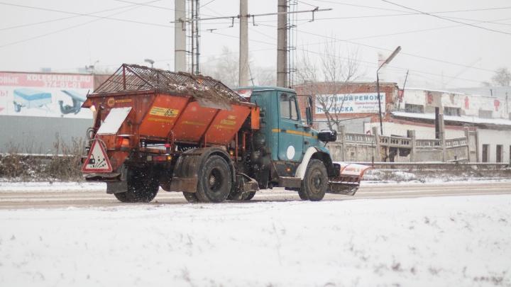 Самарские дороги начали посыпать реагентами