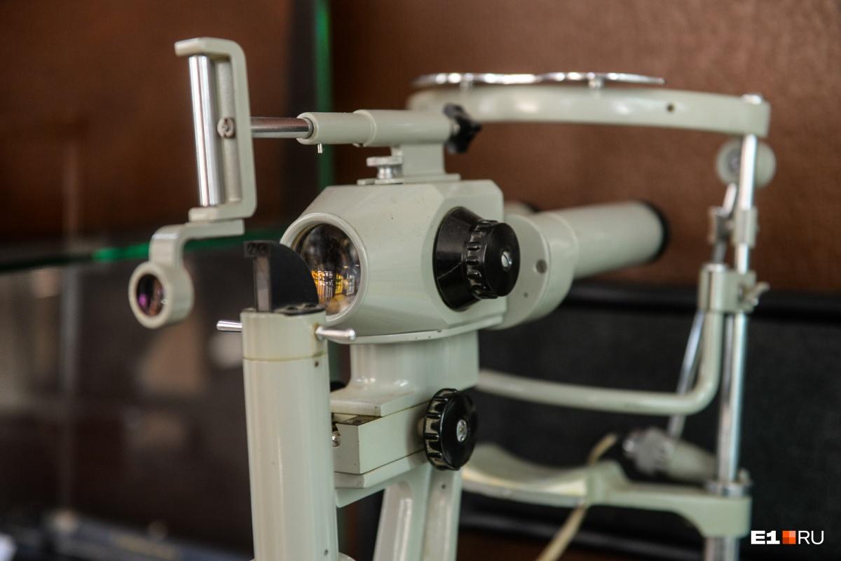Рабочий аппарат офтальмологов для изучения глазного дна, 1973 год