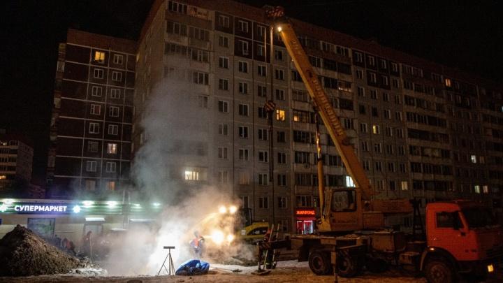 Коммунальная авария на Северо-Чемском: жильцам многоэтажек придётся мёрзнуть ещё шесть часов