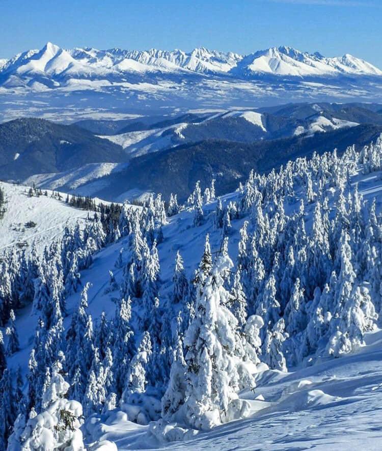 Горы Словакии зимой