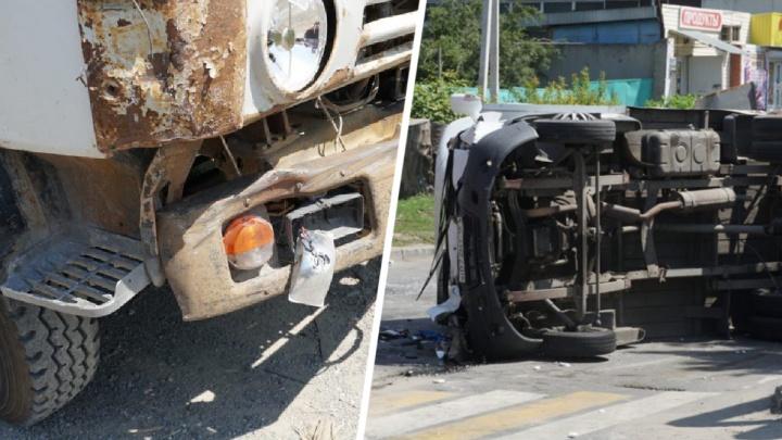 Два человека пострадали в крупном ДТП на Курской